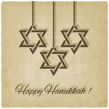 Carte heureuse de hanukkah Photo libre de droits