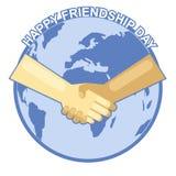 Carte heureuse de jour d'amitié 4 août Images libres de droits