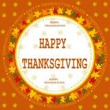 Carte heureuse de jour de thanksgiving Photo stock