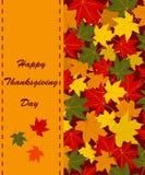 Carte heureuse de jour de thanksgiving Photos stock