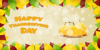 Carte heureuse de jour de thanksgiving Photographie stock