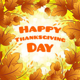 Carte heureuse de jour de thanksgiving Photo libre de droits