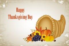Carte heureuse de jour de thanksgiving illustration de vecteur