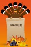 Carte heureuse de jour de thanksgiving Images libres de droits