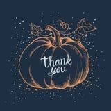 Carte heureuse de jour de thanksgiving Image stock