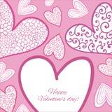 Carte heureuse de jour de valentines. illustration stock