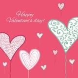 Carte heureuse de jour de valentines. illustration de vecteur