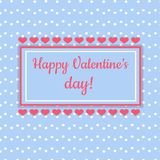 Carte heureuse de jour de valentines illustration stock