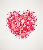 Carte heureuse de jour de valentines Photographie stock