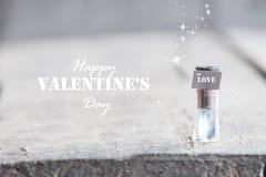 Carte heureuse de jour de valentines Image libre de droits
