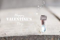 Carte heureuse de jour de valentines Photos libres de droits