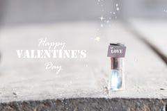 Carte heureuse de jour de valentines Photographie stock libre de droits