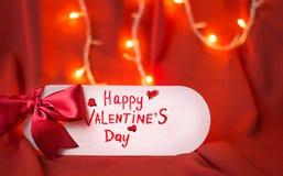 Carte heureuse de jour de valentines Images stock