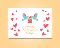 Carte heureuse de jour de valentines Photos stock