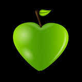 Carte heureuse de jour de Valentines avec le coeur de pomme. Vecteur Photographie stock libre de droits