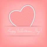 Carte heureuse de jour de Valentines avec le coeur. Vecteur Photo libre de droits