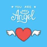 Carte heureuse de jour de valentines Fond de coeurs Photo stock