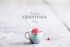 Carte heureuse de jour de valentines, style de vintage Photo libre de droits