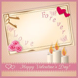 Carte heureuse de jour du `s de valentine illustration stock