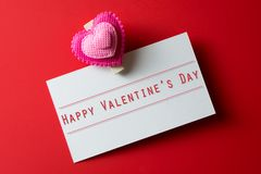 Carte heureuse de jour du `s de valentine Photo stock