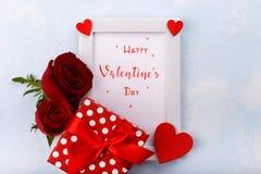 Carte heureuse de jour du `s de valentine images libres de droits
