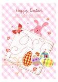 Carte heureuse de jour de Pâques de vacances illustration libre de droits