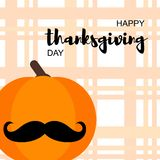 Carte heureuse de jour de thanksgiving illustration stock