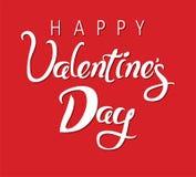 Carte heureuse de jour de valentines Photo libre de droits