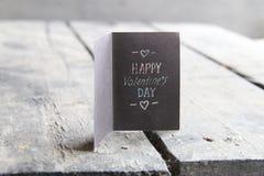 Carte heureuse de jour de valentines Images libres de droits