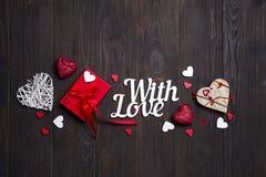 Carte heureuse de jour de valentines Conception de frontière Image stock