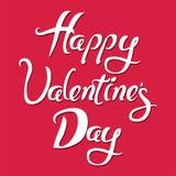 Carte heureuse de jour de valentines Vecteur Photographie stock libre de droits