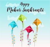 Carte heureuse de Makar Sankranti Image stock