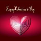 Carte heureuse de Saint Valentin Images stock