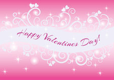 Carte heureuse de Saint-Valentin Images stock