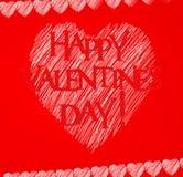 Carte heureuse de Saint Valentin Photos stock
