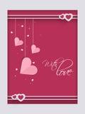 Carte heureuse de salutation ou d'amour de célébration de Saint-Valentin Images stock