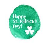 Carte heureuse de St Patrick Day Illustration de Vecteur