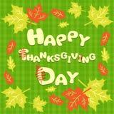Carte heureuse de thanksgiving avec l'inscription Image libre de droits