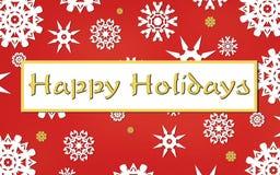 Carte heureuse de vacances Images libres de droits