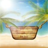 Carte heureuse de vacances d'été Images libres de droits