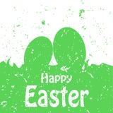 Carte heureuse de vacances de Pâques Photos stock