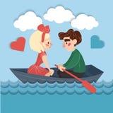 Carte heureuse de valentines de couples illustration stock
