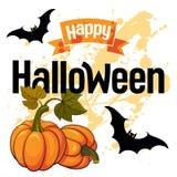 Carte heureuse de vecteur de Halloween Image stock