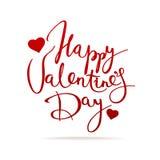 Carte heureuse de vecteur du jour de valentine Photographie stock