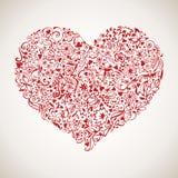 Carte heureuse de vecteur du jour de valentine Image libre de droits