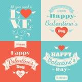 Carte heureuse de vecteur du jour de valentine Photographie stock libre de droits