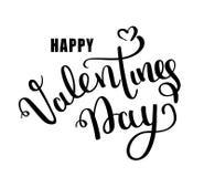 Carte heureuse de vecteur de jour de valentines Lettrage heureux de jour de valentines sur un fond blanc vecteur prêt d'image d'i illustration libre de droits