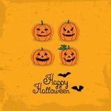 Carte heureuse de Veille de la toussaint Photos stock