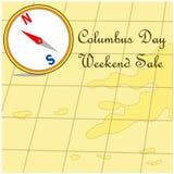 Carte heureuse de vente de promotion de Columbus Day Photo libre de droits