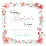 Carte heureuse du jour de mère Images stock